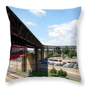 Mud Island In Memphis Throw Pillow