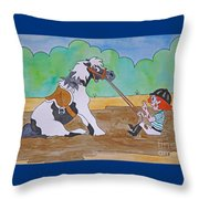 Mud Pony Throw Pillow
