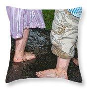 Mud Puddles Throw Pillow
