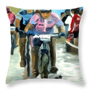 Mud Slingers Throw Pillow