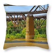 Muddy Mississippi Throw Pillow