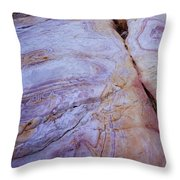 Muddy Mt. Sandstone B Throw Pillow