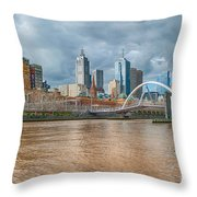 Muddy River Throw Pillow