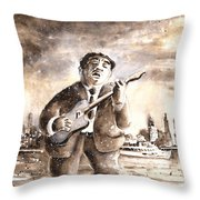 Muddy Waters In Chicago Throw Pillow