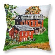 Mudhouse Mansion Throw Pillow
