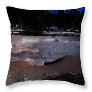 Mudpots Area I V Throw Pillow
