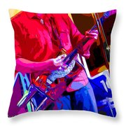 Muffler Guitar Throw Pillow