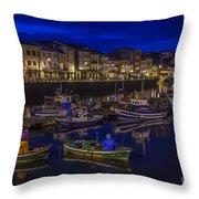 Mugardos Port Galicia Spain Throw Pillow