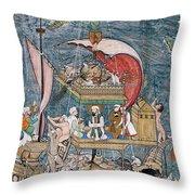 Mughal - Noah's Ark Throw Pillow
