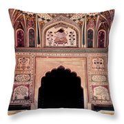 Mughal Art Throw Pillow