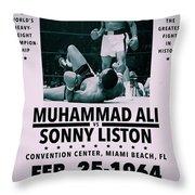 Muhammad Ali Poster Throw Pillow