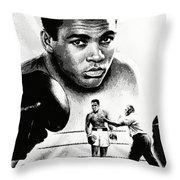 Muhammad Ali The Greatest Throw Pillow