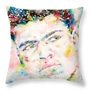 Muhammad Ali - Watercolor Portrait.1 Throw Pillow