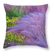Muhly Grass In The Morning Throw Pillow