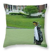 D12w-289 Golf Bag At Muirfield Village Throw Pillow