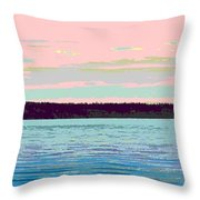 Mukilteo Clinton Ferry Panel 1 Of 3 Throw Pillow