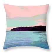 Mukilteo Clinton Ferry Panel 2 Of 3 Throw Pillow