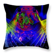 Mule #14 Enhanced Image Throw Pillow