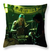 Mule #15 With Text Throw Pillow