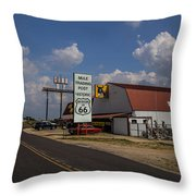 Mule Trading Post Throw Pillow