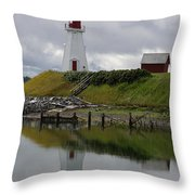 Mulholland Point Lighthouse - New Brunswick Throw Pillow