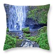 Mulnomah Falls Throw Pillow