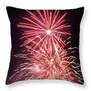 4th Of July Fireworks 1 Throw Pillow by Howard Tenke