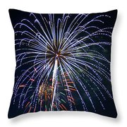 4th Of July Fireworks 12 Throw Pillow by Howard Tenke