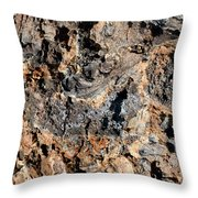 Multi-colored Lava Throw Pillow