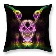 Multi Coloured Gremlin Throw Pillow