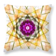 Multi Flower Abstract Throw Pillow