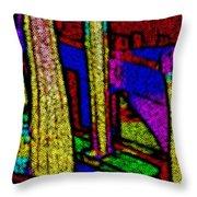 Multi Sensation Colors Throw Pillow