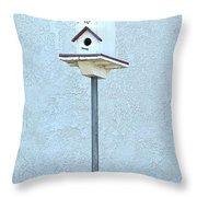 Multi-story Birdhouse Throw Pillow