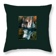 Multi-tiered Waterfalls Throw Pillow
