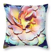 Multicolor Rose Photoart Throw Pillow