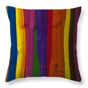 Multicolored Paint Can  Throw Pillow