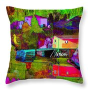 Multicolored Reflections Throw Pillow