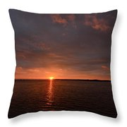Multicolored Sunrise Throw Pillow