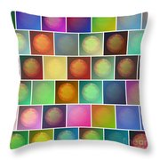 Multicolored Suns Throw Pillow