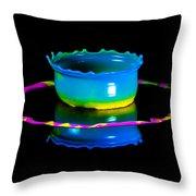 Multicoloured Bowl Throw Pillow