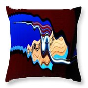 Multicultural American Flag Throw Pillow