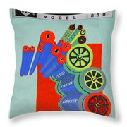 Multilith 1250 Ink Rollers Cylinders Throw Pillow