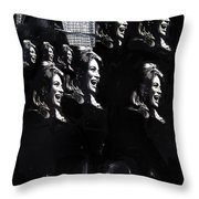Multiple Angie Dickinson's Collage Young Billy Young Set Old Tucson Arizona 1968-2013 Throw Pillow