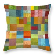 Multiple Exposures L Throw Pillow by Michelle Calkins