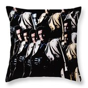 Multiple Johnny Cash In Trench Coat 1 Throw Pillow