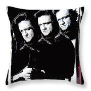 Multiple Johnny Cash Sitting Old Tucson Arizona 1971-2008 Throw Pillow