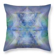 Multivortex 3d Chalice With Horizontal Vortexes Throw Pillow