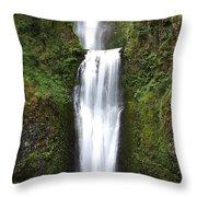 Multnoma Falls II Throw Pillow