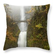 Multnomah Autumn Mist Throw Pillow by Mike  Dawson