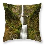 Multnomah Falls 2 A Throw Pillow